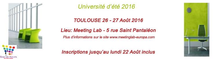 Université d'été de l'Ecole des Avocats de Toulouse : venez tenir le stand de l'AAMTI