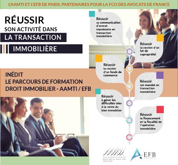 L'AAMTI et l'EFB de Paris, partenaires pour la formation continue des avocats