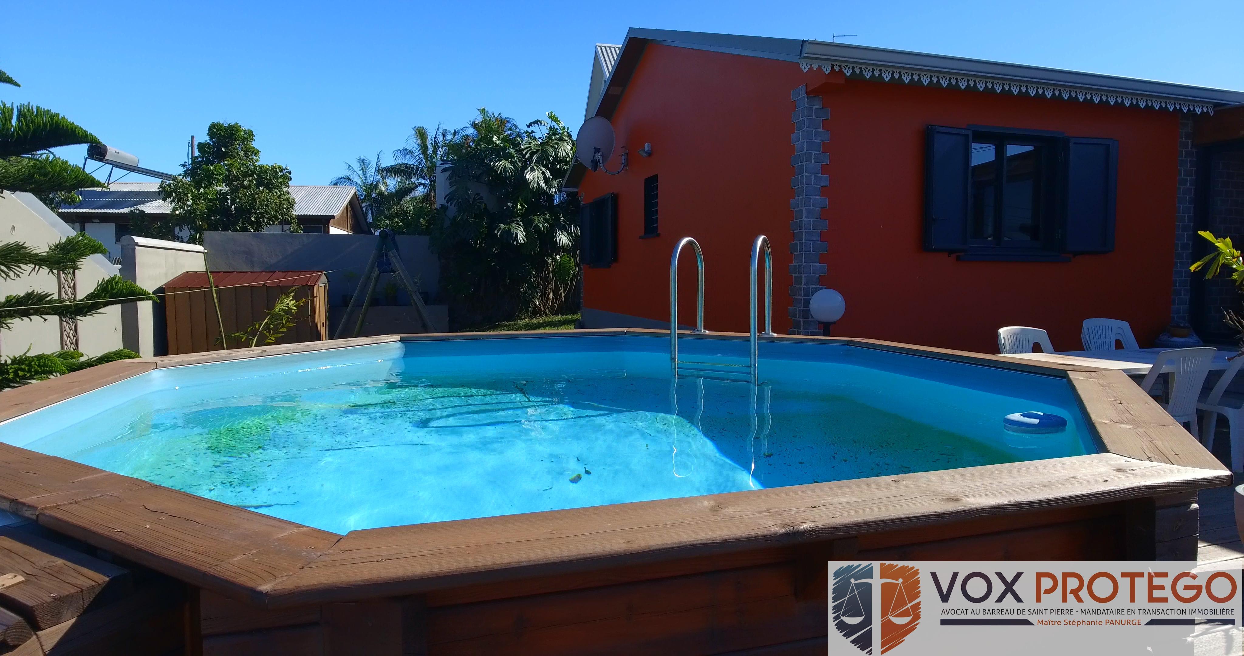 Maison T4 avec Piscine sur le Tampon, Sud de la Réunion