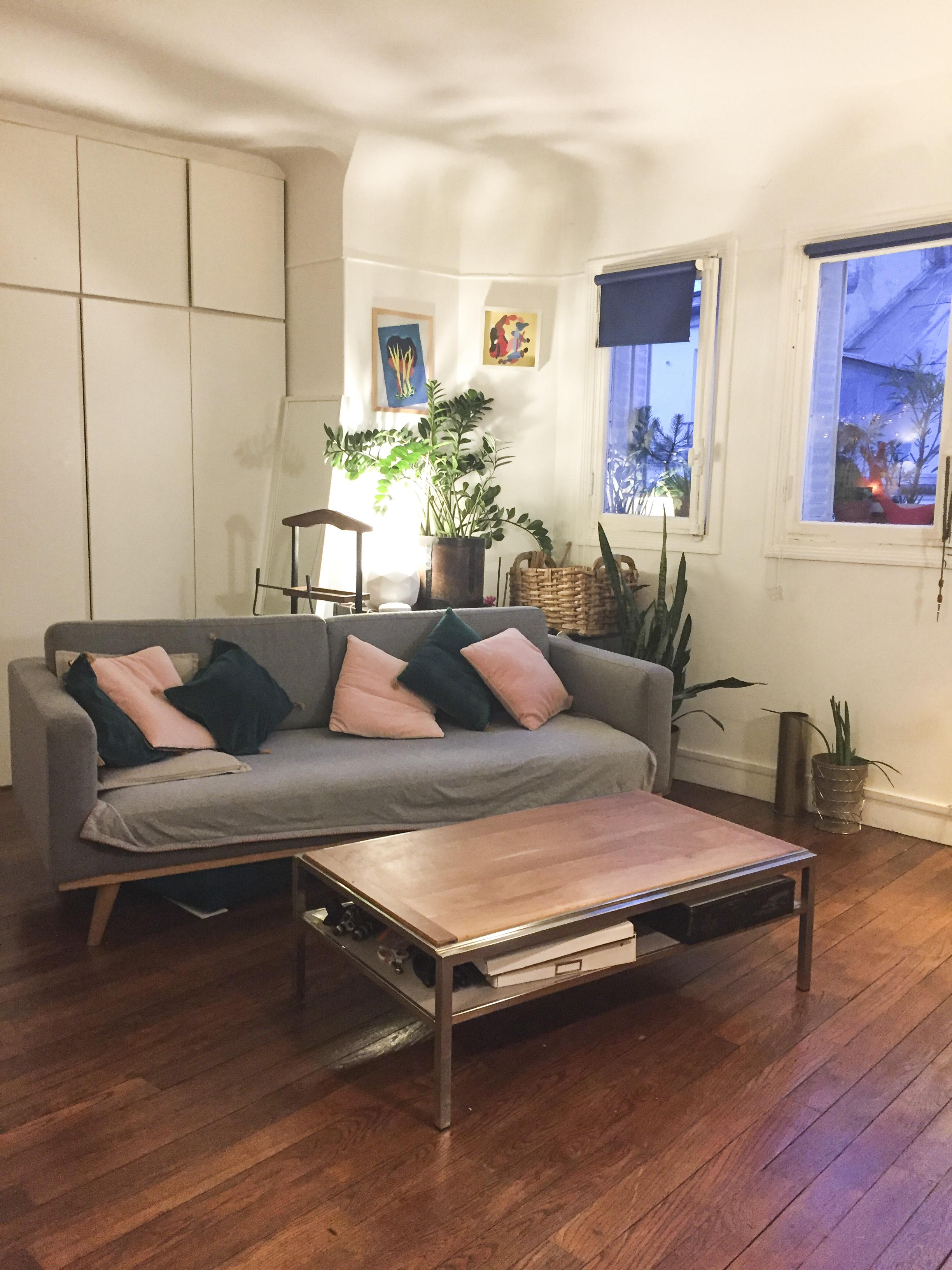 beau studio de 33 m2 lumineux proche métro Belleville/Pyrénées