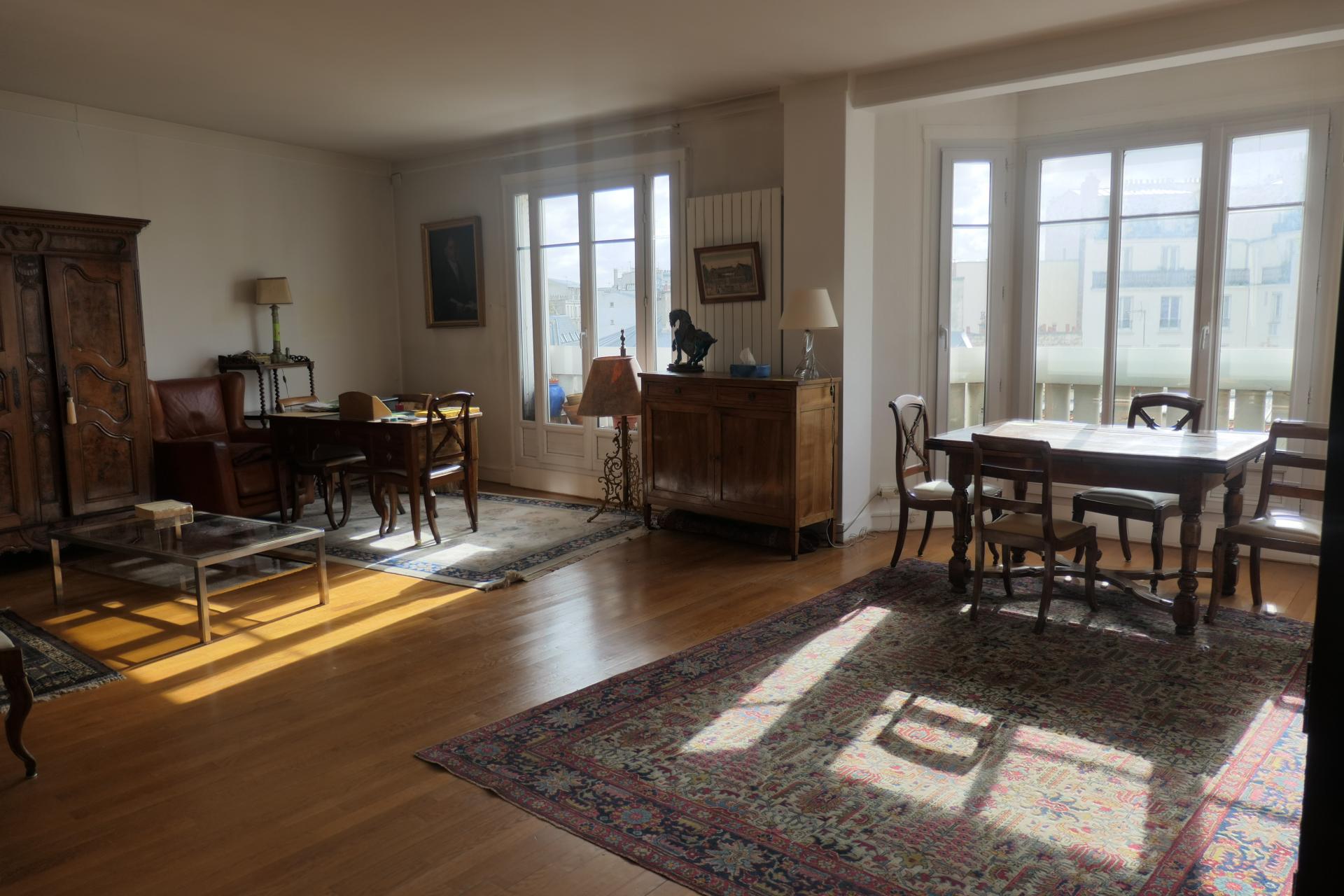 PARIS 14 ème Appartement traversant lumineux 90  m2  à vendre