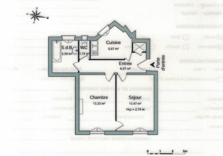 Appartement au 5ème étage près du Canal de l'Ourcq