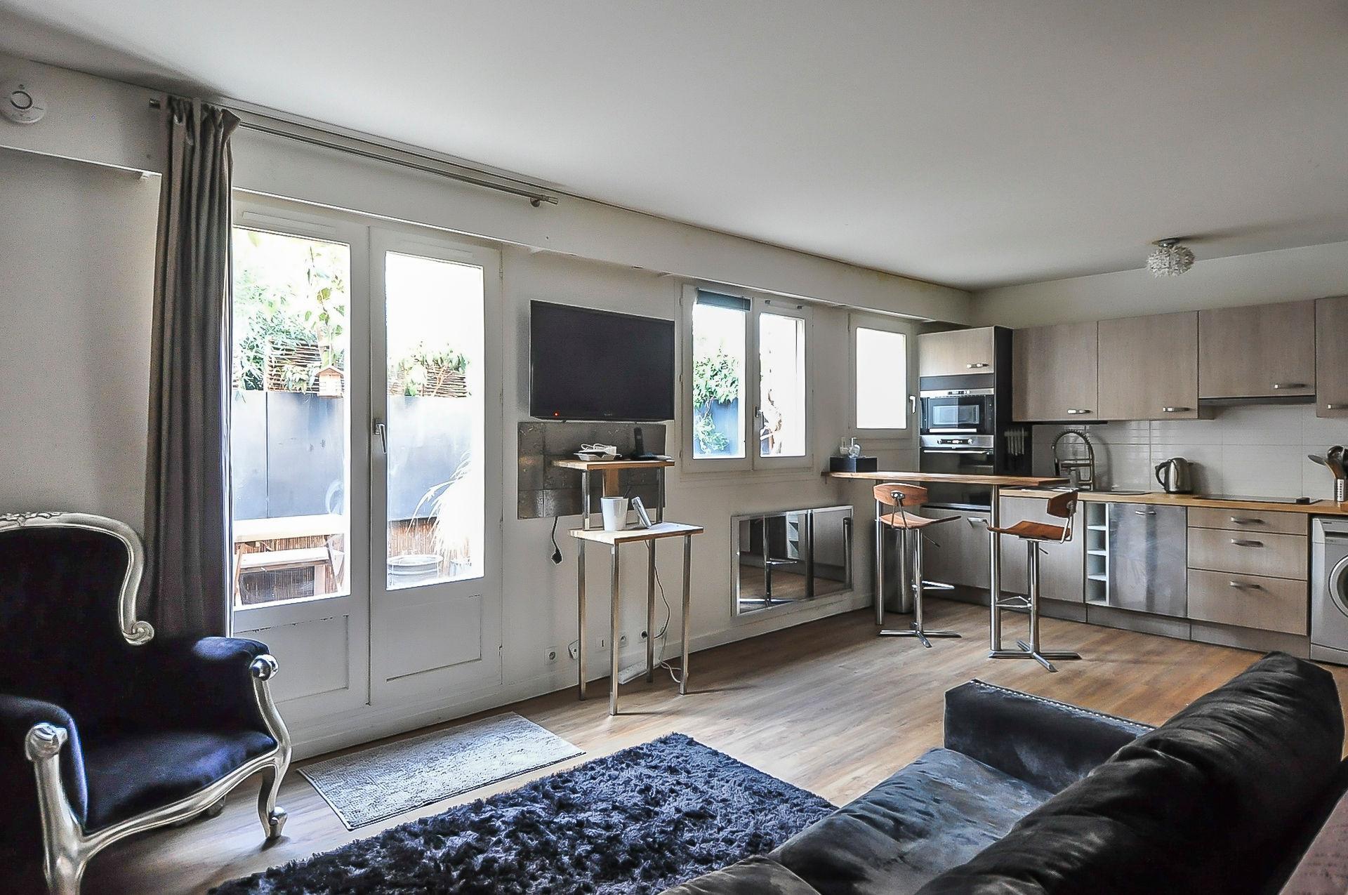 Boulogne-Billancourt - Grand studio de 40m2 avec terrasse de 10m2 à vendre
